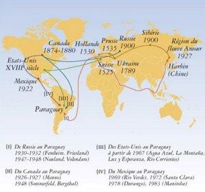 Mennonites map